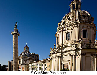 Church in the traiano forum Rome