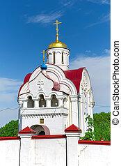Church in the village Pleshcheyevo. Russia. Orel region.