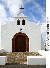 Church in Tiagua, Lanzarote