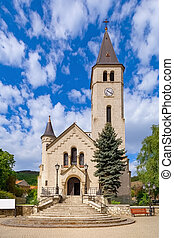 Church in Tokaj, historical town in Borsod-Abauj-Zemplen ...