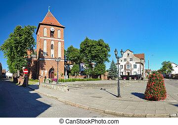 Church in Tolkmicko, Poland.