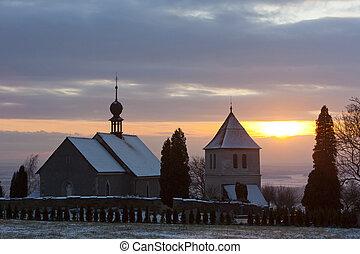church in Vaclavice, Czech Republic