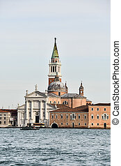 church in venice, photo as a background