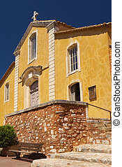 Church in village of Roussillon (Provence , France)
