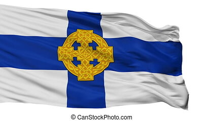Church In Wales Flag, Isolated On White Seamless Loop -...
