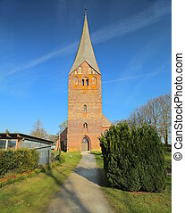 Church in Wusterhusen in Mecklenburg-West Pomerania, Germany.