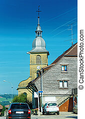 Church in Yverdon of Jura Nord Vaudois Vaud Switzerland -...