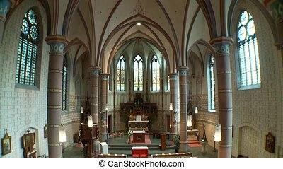 Church inside - video footage of a church inside