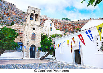 church inside the castle of Monemvasia Laconia Peloponnese Greece