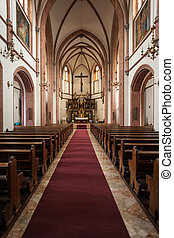 Church interior - interior view of a church located in ...