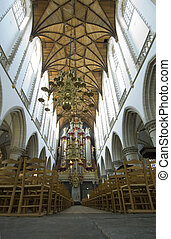 Church interior with Organ