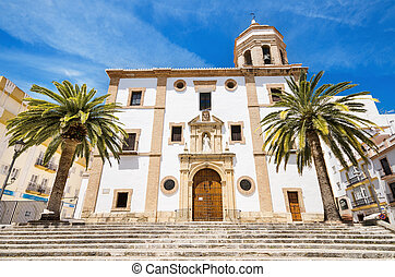 Church la Merced in Ronda, Malaga, Andalusia, Spain.