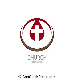 Church logo. A drop of Jesus blood with a cross in it.