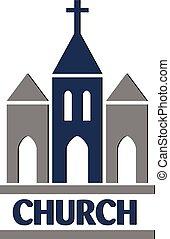 Church logo vector icon
