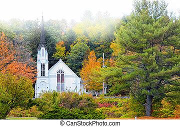 Church near Woodstock Vermont