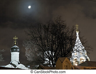 Church night view