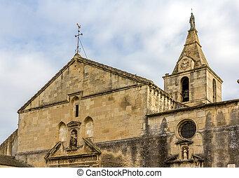 Church Notre-Dame-la-Major in Arles - France, Provence-Alpes-Cote d'Azur