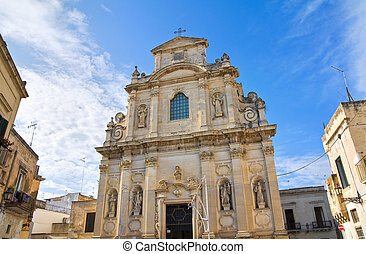 Church of Alcantarine. Lecce. Puglia. Italy.