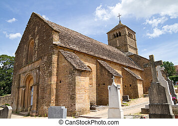 Church of Ameugny in France.