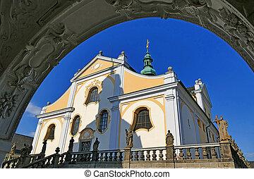Church of baroque monastery at Svata Hora