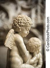 Bourg-en-Bresse (Ain, Rhone,-Alpes, France) - Ancient church of Brou: statue