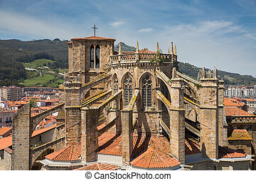 Church of Castro Urdiales, Cantabria, Spain.