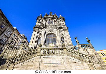 Church of Clerigos Porto - Prospective view of baroque...