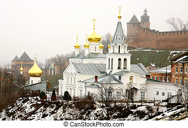 Church of Elijah the Prophet and Kremlin Nizhny Novgorod