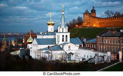 Church of Elijah the Prophet and Kremlin Nizhny Novgorod Russia