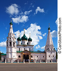 Church of Elijah the Prophet at Yaroslavl in summer