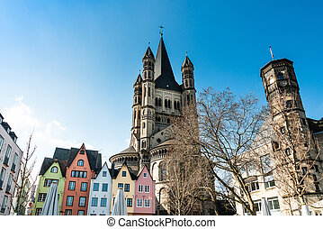 Church of Great St. Martin in Cologne, Germany