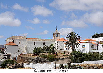 Church of historical town Betancuria, Canary Island Fuerteventura, Spain