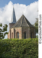 Little church of the town Hoorn on the island of Terschelling in the North of the Netherlands