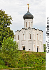 Church of Intercession upon Nerl River. (Bogolubovo, Vladimir region, Golden Ring of Russia) Inscribed in the Wold Heritage List of UNESCO