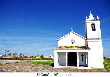 Church of Luz village, Portugal.