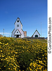 Church of Nanortalik - The famous landmark church in...