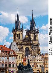 Church of Our Lady before Tyn in Prague, Czech Republic.