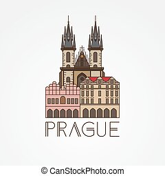 Church of Our Lady before Tyn - The symbol of Prague, Czech...