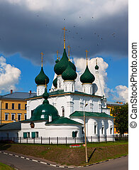 Church of Our Saviour on the Town in Yaroslavl. Built in 1672. Russia