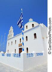 Church of Panagia of Platsani, Oia, Santorini Greece