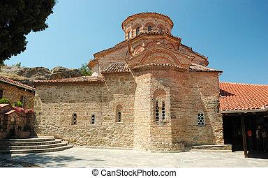 Church of Roussanou monastery, Meteora, Greece, Balkans, meteora complex is famous greek unesco heritage site