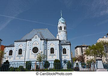 Church of Saint Elizabeth Hungarian (called Blue Church),...