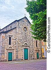 Church of Saint Francesco at the city center of luxurious resort Locarno of Ticino canton, Switzerland.