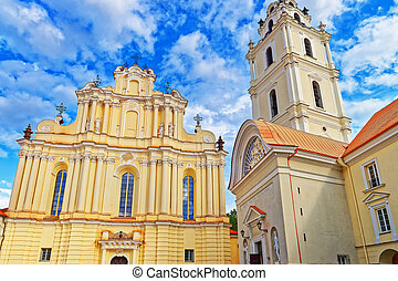 Church of Saint John at Grand courtyard of Vilnius University