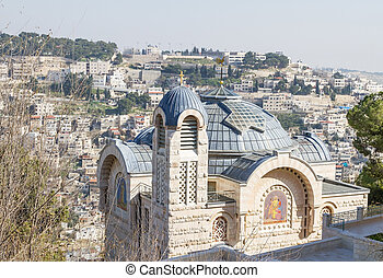 Church of Saint Peter in Gallicantu . Israel.