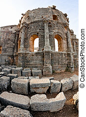 Church of Saint Simeon exterior - Ruins of the byzantine...