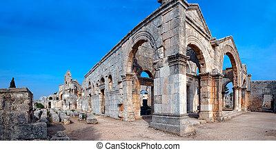 Church of Saint Simeon Syria - Ruins of the byzantine church...