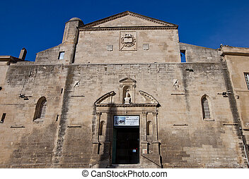 Church of Sainte-Anne (Notre-Dame-la-Principale, erected in 1175, current view since 1630) in Arles. National Heritage Site of France (monument historique)