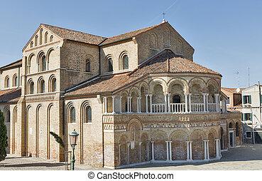 Church of Saints Mary and Donato on Murano island, Italy.