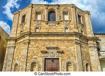 Church of San Domenico al Rosario, in Gallipoli, Italy - ...